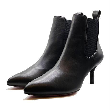 オールウェザーポインテッドサイドゴアショートブーツ/All Weather Pointed Side Gore Short Boots L0230 (BLACK)