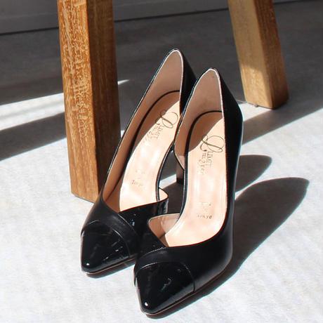 ポインテッドトゥセパレートヒールパンプス/Pointed to separate heel pumps L0224(BLACK/C)
