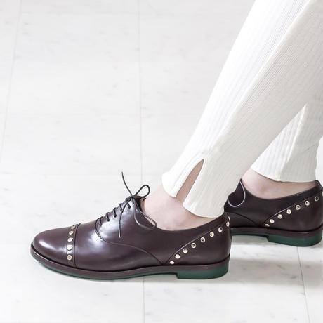 スタッズオックスフォードシューズ/ Studs Oxford shoes L0024(D.BROWN)