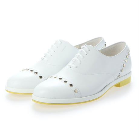 スタッズオックスフォードシューズ/ Studs Oxford shoes L0024(WHITE)