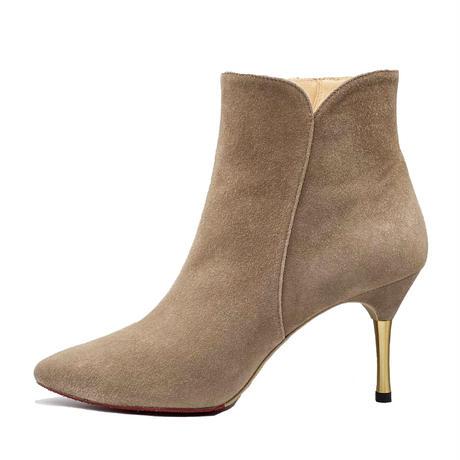 オールウェザーポインテッドカットワークスパイクヒールショートブーツ/All Weather Pointed Cutwork Spike Heel Short Boots L0229(OAK/S)