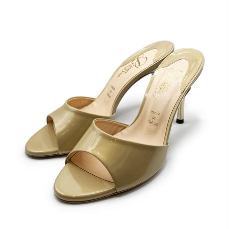 スパイクヒールミュールサンダル/Spike heel mule sandals L0217(L.BEIGE/E)