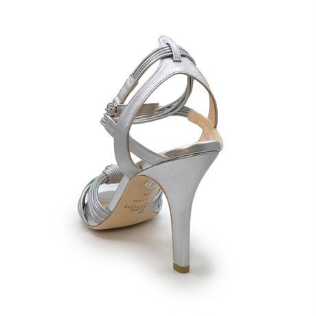 ノットデザインヒールトラップサンダル / Knot design heel trap sandals L0177(SILVER)