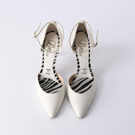 セパレーツストラップヒールパンプス / Separates strap heel pumps L0215 (OFF WHITE)