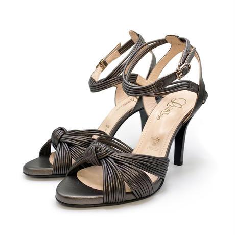 ノットデザインヒールトラップサンダル / Knot design heel trap sandals L0177(ÉTAIN)