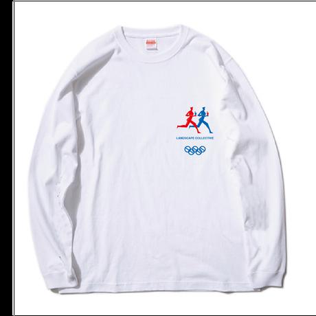 RUNNING BREAKFAST CULT long-sleeve Tshirt【WHITE】