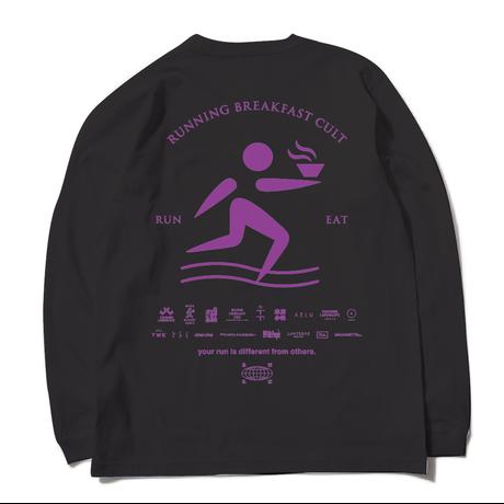 RUNNING BREAKFAST CULT long-sleeve Tshirt【BLACK】