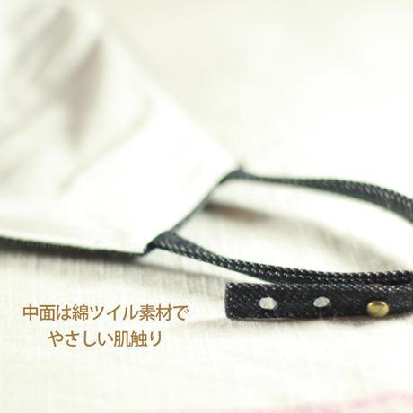 【バレンタインギフト】日本製 デニムマスク 立体マスク(標準サイズ)<ご注文から3日以内で発送>