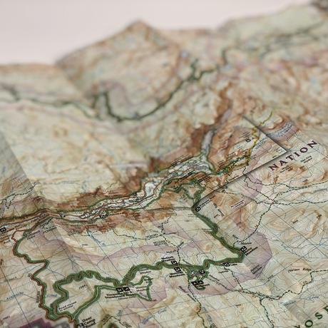 National Geographic社 地形図[Yosemite]新品