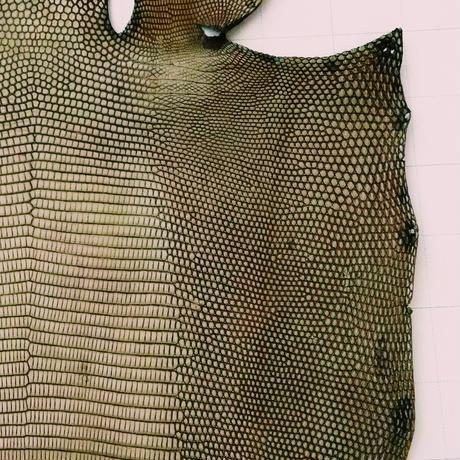 トカゲ革【最大幅25cm】シャドウ ブラウン&へーゼルブラウン / ツヤ弱/背割/0172