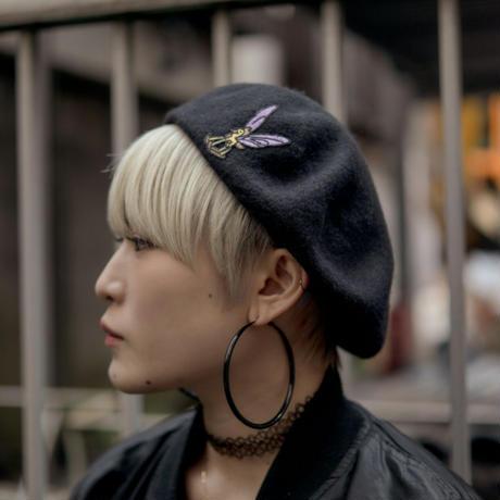 ロッキングホースフライ ベレー帽