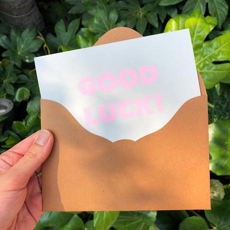 """メッセージカード """"グッドラック!"""" / Greeting Card """"GOOD LUCK! """""""