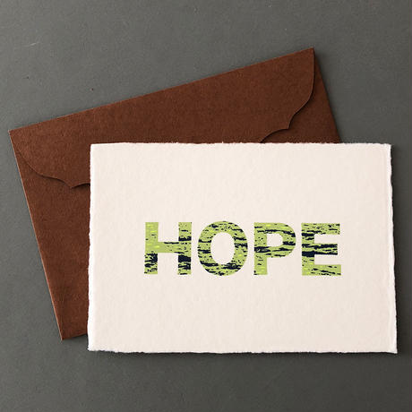 """メッセージカード """"望み"""" / Greeting Card """" HOPE """""""