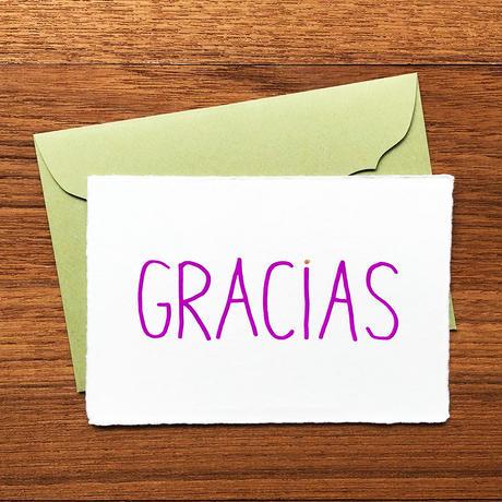 """メッセージカード """"ありがとう"""" / Greeting Card """"GRACIAS """""""