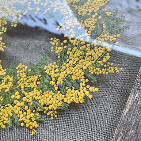紙の花屋 asanochiaki「ミモザのリース」額入り(大)