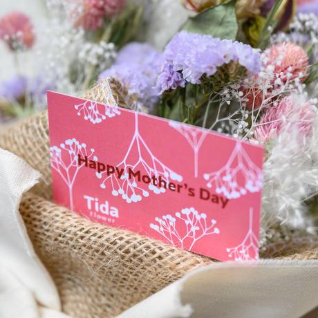 5月は「母の月」スワッグC 濃いめピンク系バラ入り