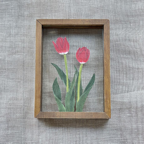 紙の花屋 asanochiaki「赤いチューリップ」