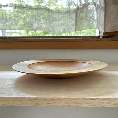 木のリム皿(ミズメ)・前田洋工作室