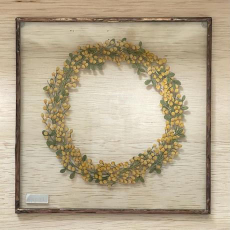紙の花屋 asanochiaki「ミモザのリース」(A)