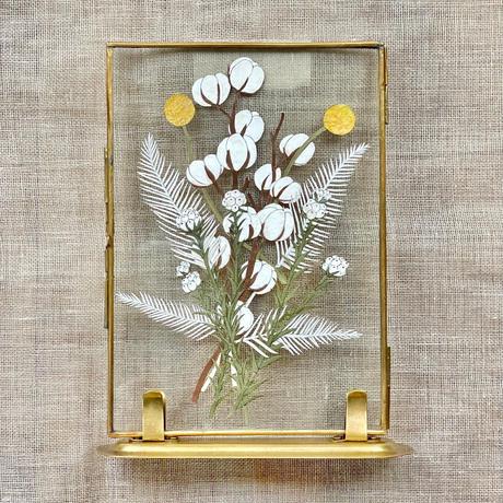 紙の花屋 asanochiaki「コットンとヤマシダのブーケ」