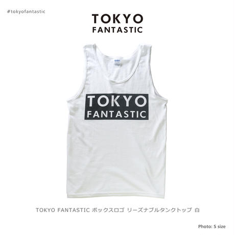 【リーズナブル】TOKYO FANTASTIC ボックスロゴ タンクトップ 白