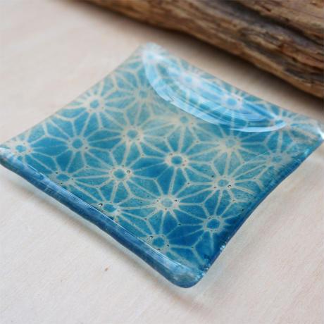 麻の葉ガラス豆皿 TOKYO FANTASTIC× Glass & Art MOMO