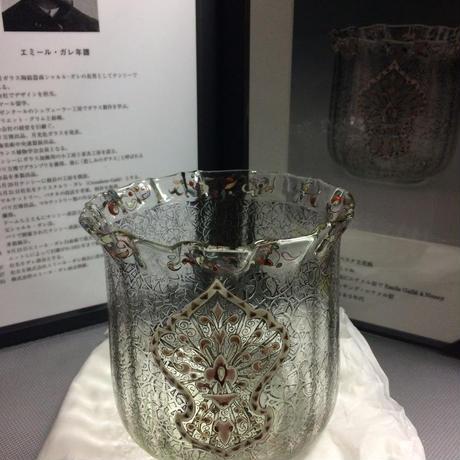 ガレ アラベスク文花瓶