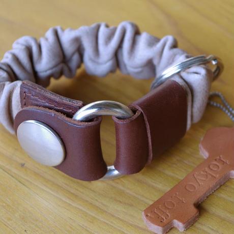 key bracelet ブラウン×ダークブラウン×シルバー
