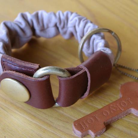 key bracelet ブラウン×ダークブラウン×ゴールド