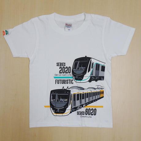 [140サイズ]キッズTシャツ(白)