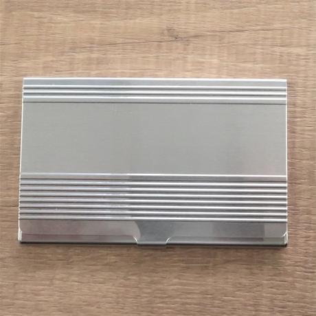 ステンレス電車タイプ アルミカードケース(コルゲーション付)