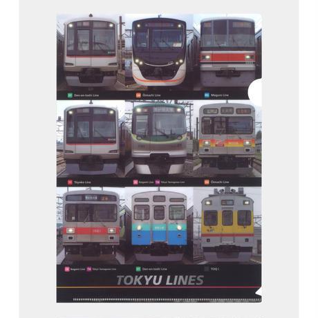 東急線クリアファイル