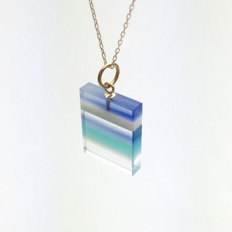 bisoa 縞々NECKLACE BLUE