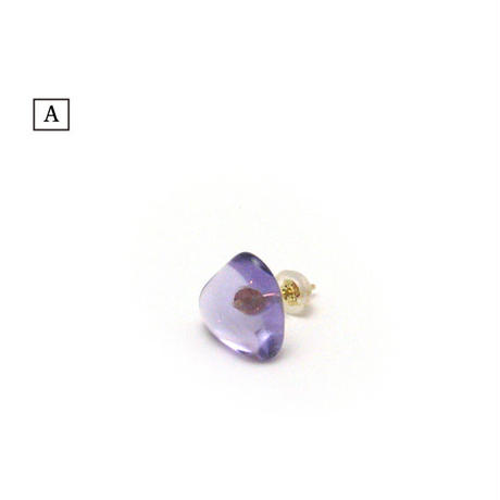 bisoa PURPLE DROPS PIERCE (1pair)