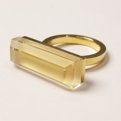 118 Matte&Clear Ring Rectangle