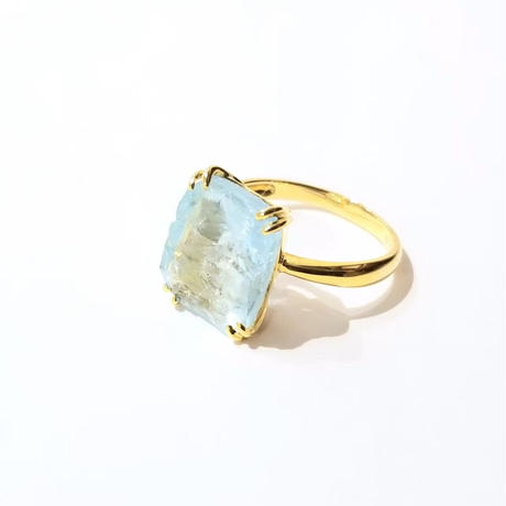 bisoa SQUARE RING  aquamarine