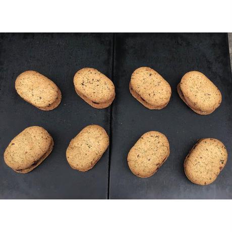 VEGAN カカオニブとミントクッキーのガナッシュサンド8【2月28日(日)発送予定分】