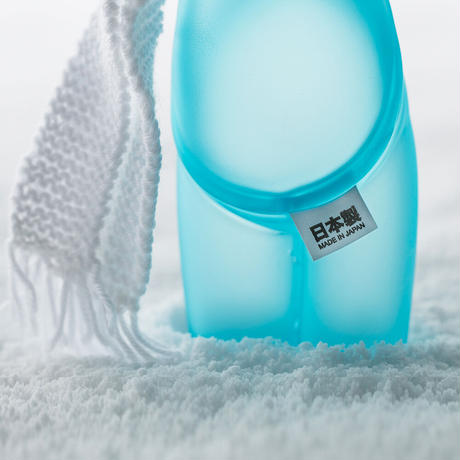 mr clement sofubi sculpture / a vulgar statement chapter 3: blue frosted glass finish