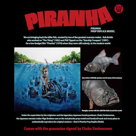 Walnut Display Stand for Piranha Prop Replica Model