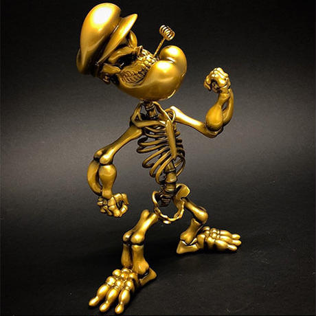 Popeye Grin by Ron English - GOLD version