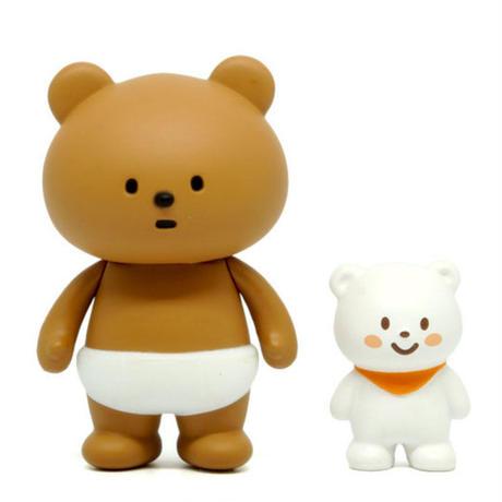 Nappy Bear with Mini Ordinary Bear