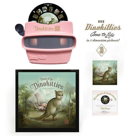 parallel import / Dinokitty View Master Collectors Set by Mab Graves