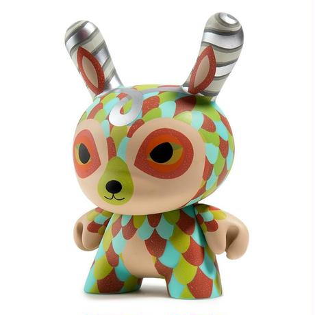 "The Curly Horned Dunnylope 5"" Dunny by Horrible Adorables"