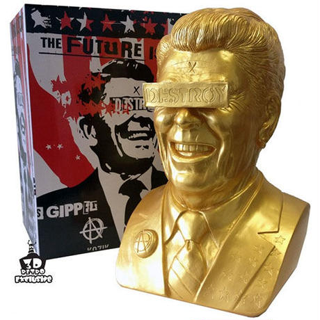 Gold Gipper Reagan Bust by Frank Kozik