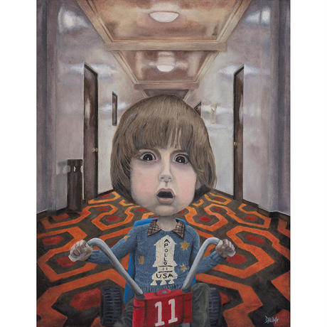Danny Torrance - The Shining giclee print by dddalina (framed)