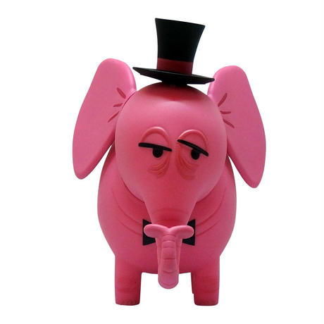 Pink Elephant Coin Bank Top Hat Edition by Shag