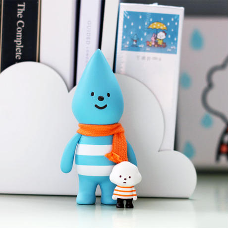 Little Raindrop with Mini Mr. White Cloud