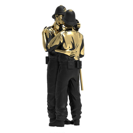 Banksy's Kissing Coppers Gold Rush Edition by Brandalised