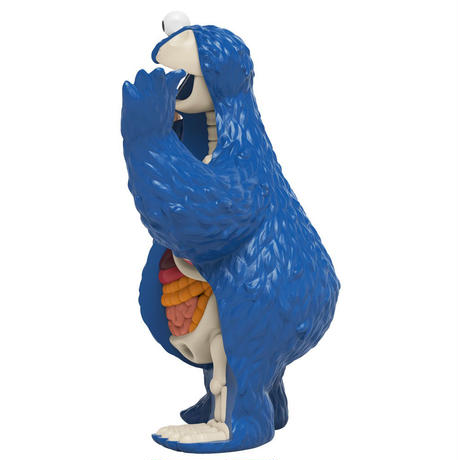 XXRAY Plus  Sesame Street Anatomical Cookie Monster by Jason Freeny