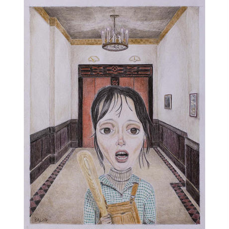 Wendy Torrance - The Shining giclee Print by dddalina (framed)